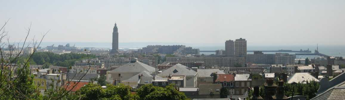 Panoramic view of Le Havre